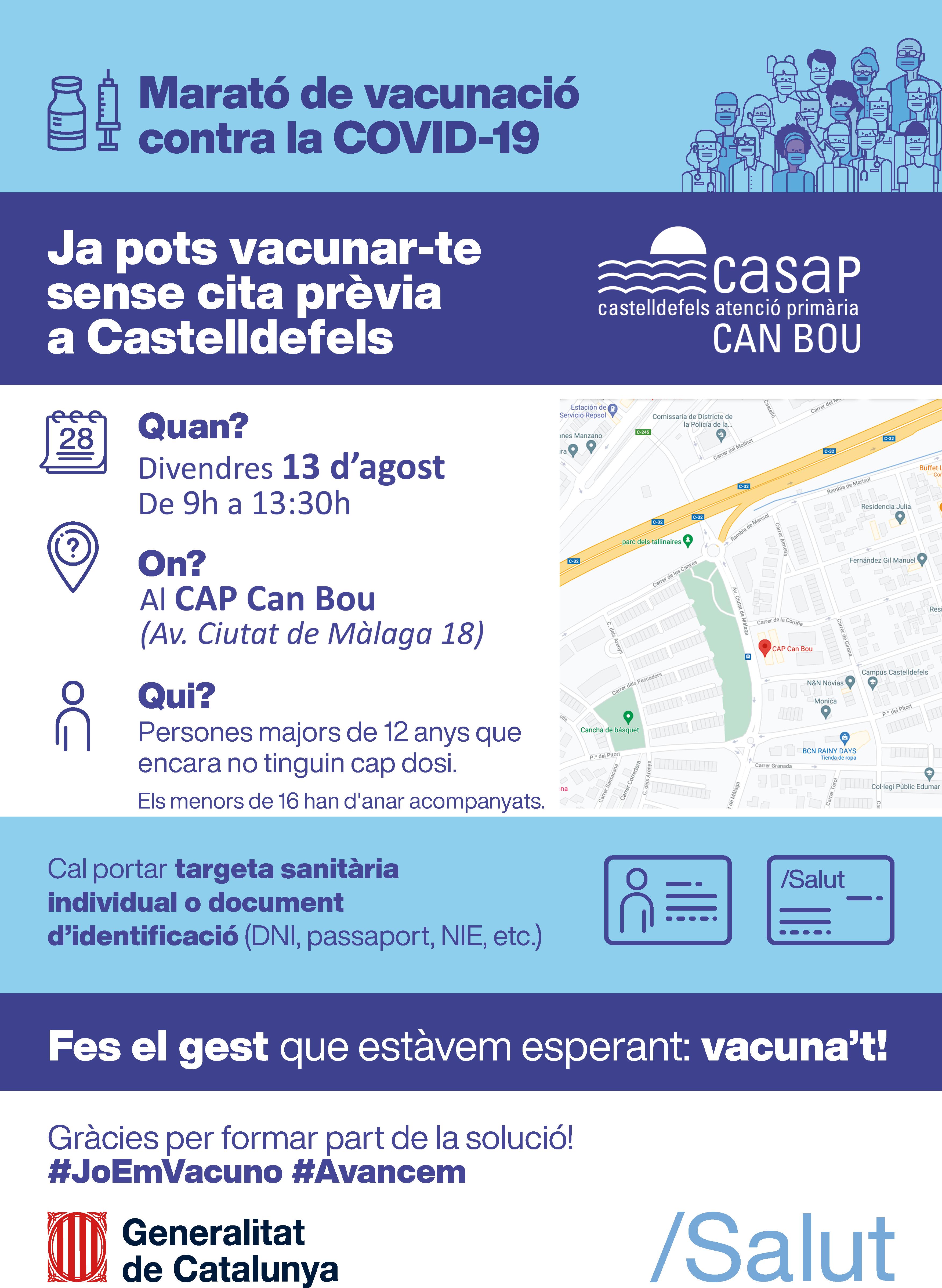 Vacuna sense cita Castelldefels CanBou